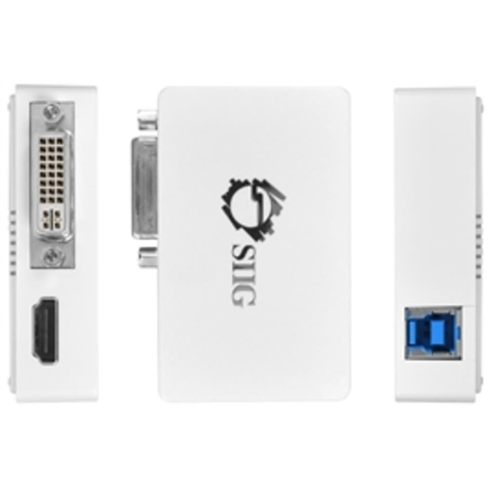 SIIG Accessory JU-H20511-S1 USB 3.0 to HDMI-DVI Dual Display Adapter Retail