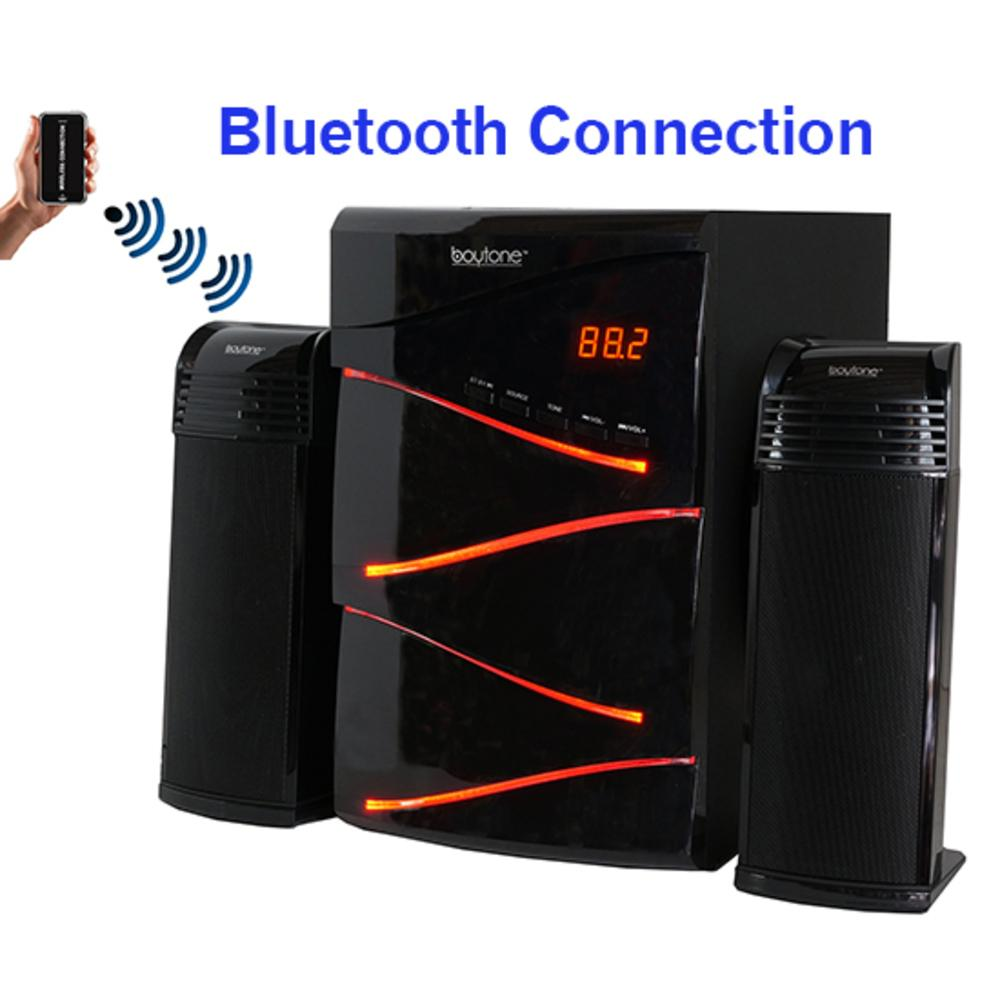 Boytone BT-428F, 2.1 Bluetooth Powerful Home Theater Speaker System, with FM Radio,
