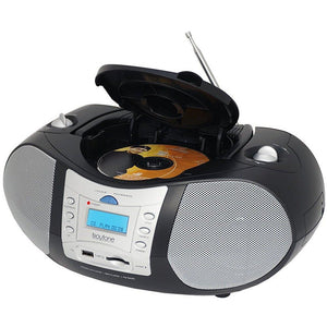 Boytone BT-6B CD Boombox Black Edition Portable Music System with CD Player & USB-SD