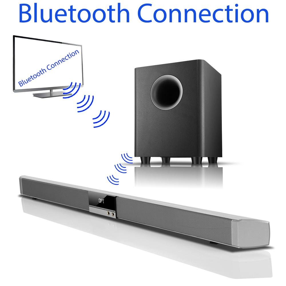 Boytone BT-888 Audio 39 inch 80W Bluetooth Sound Bar with Bluetooth Subwoofer Home T