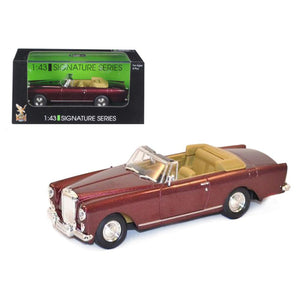1961 Bentley Continental S2 Park Ward DHC Convertible Burgundy 1-43 Diecast Car Model by Road Signature