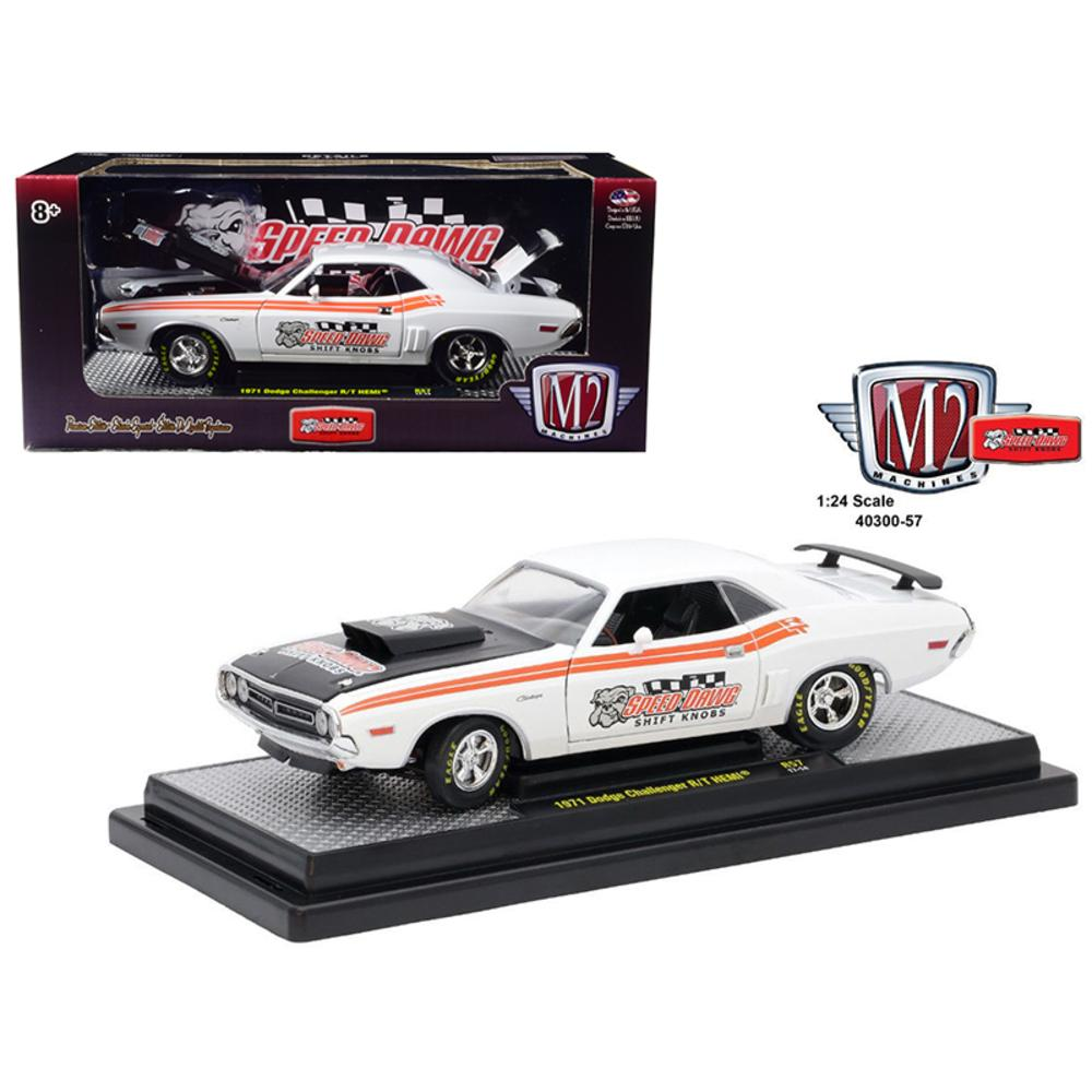 1971 Dodge Challenger R-T Hemi  Speed Dawg Shift Know 1-24 Diecast Model Car by M2 Machines