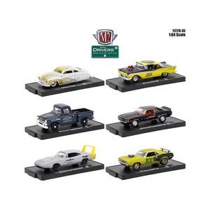 Drivers 6 Cars Set Release 45 In Blister Packs 1-64 Diecast Model Cars by M2 Machines