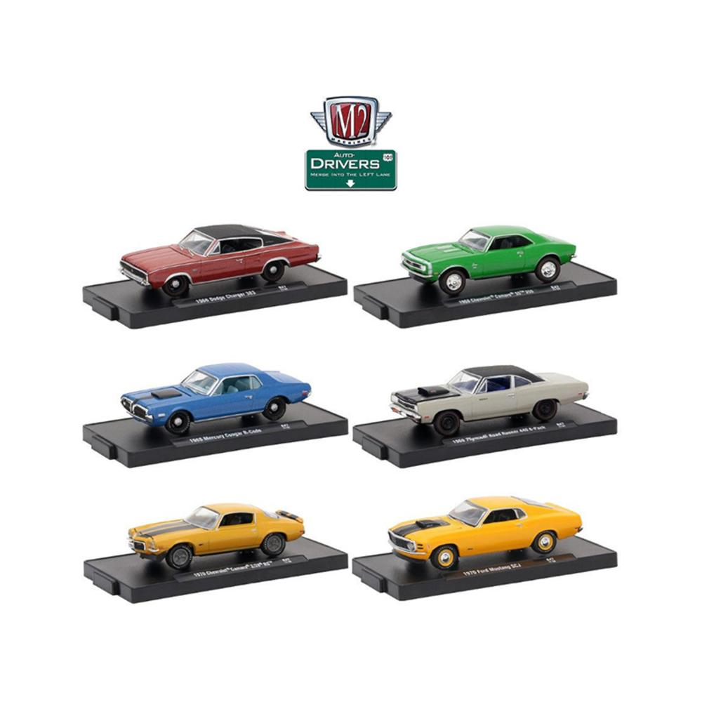 Drivers 6 Cars Set Release 47 In Blister Packs 1-64 Diecast Model Cars by M2 Machines