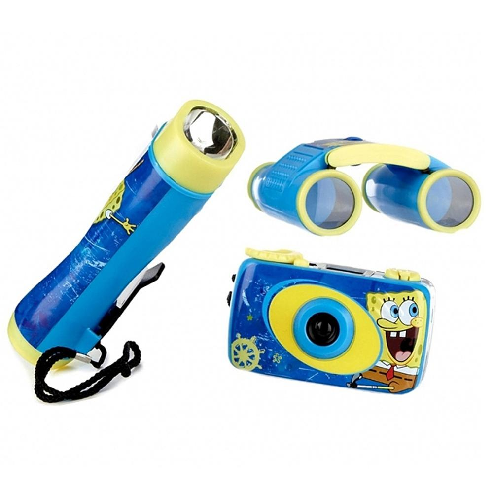 SpongeBob Squarepants 3-Piece Adventure Kit with Camera, Flashlight, and Binocular