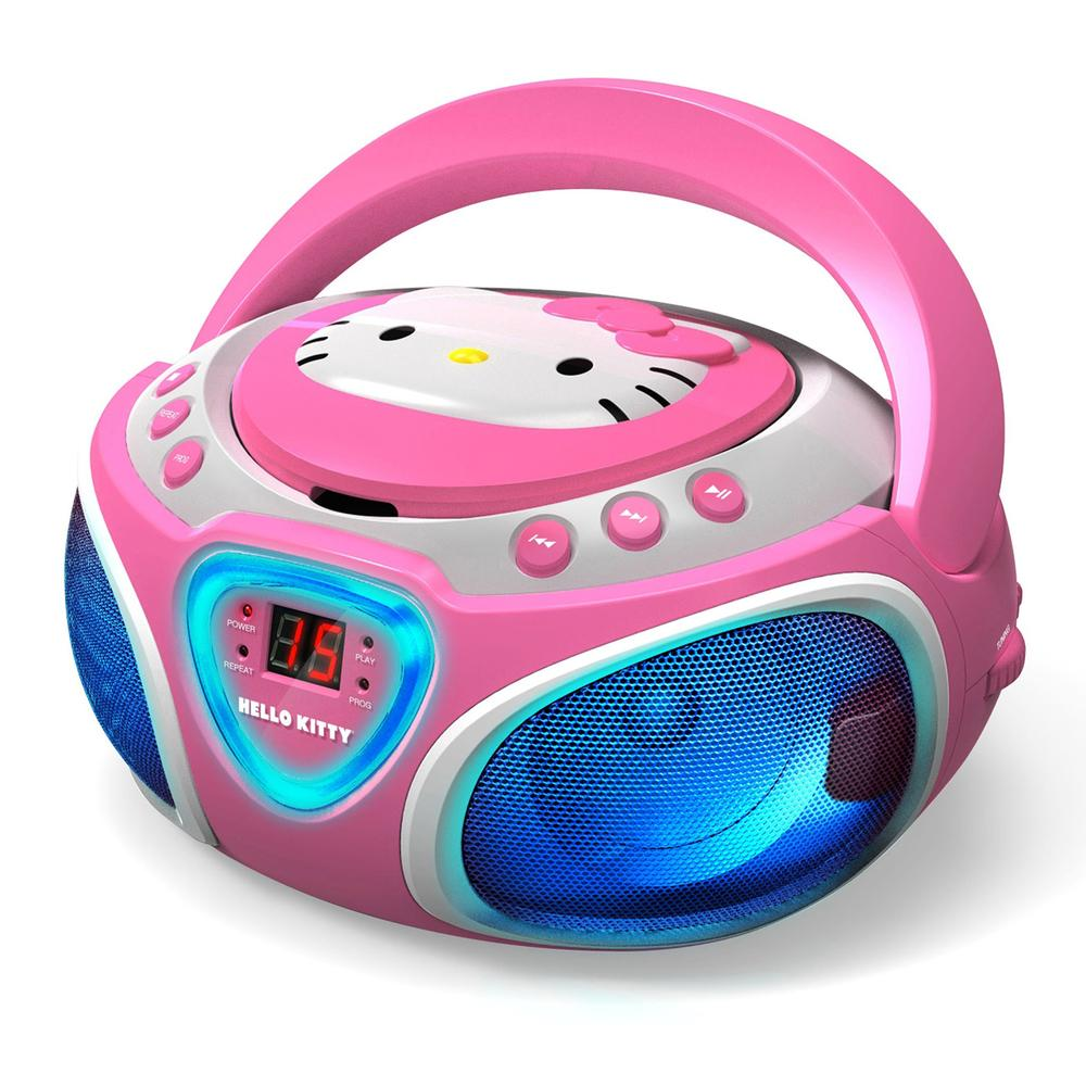 Hello Kitty CD Boombox with AM-FM Radio and LED Light Show