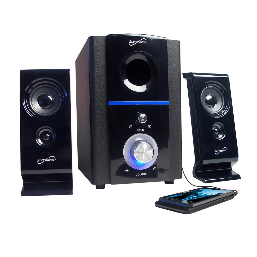 Supersonic 2.1 Multimedia Speaker System in Black