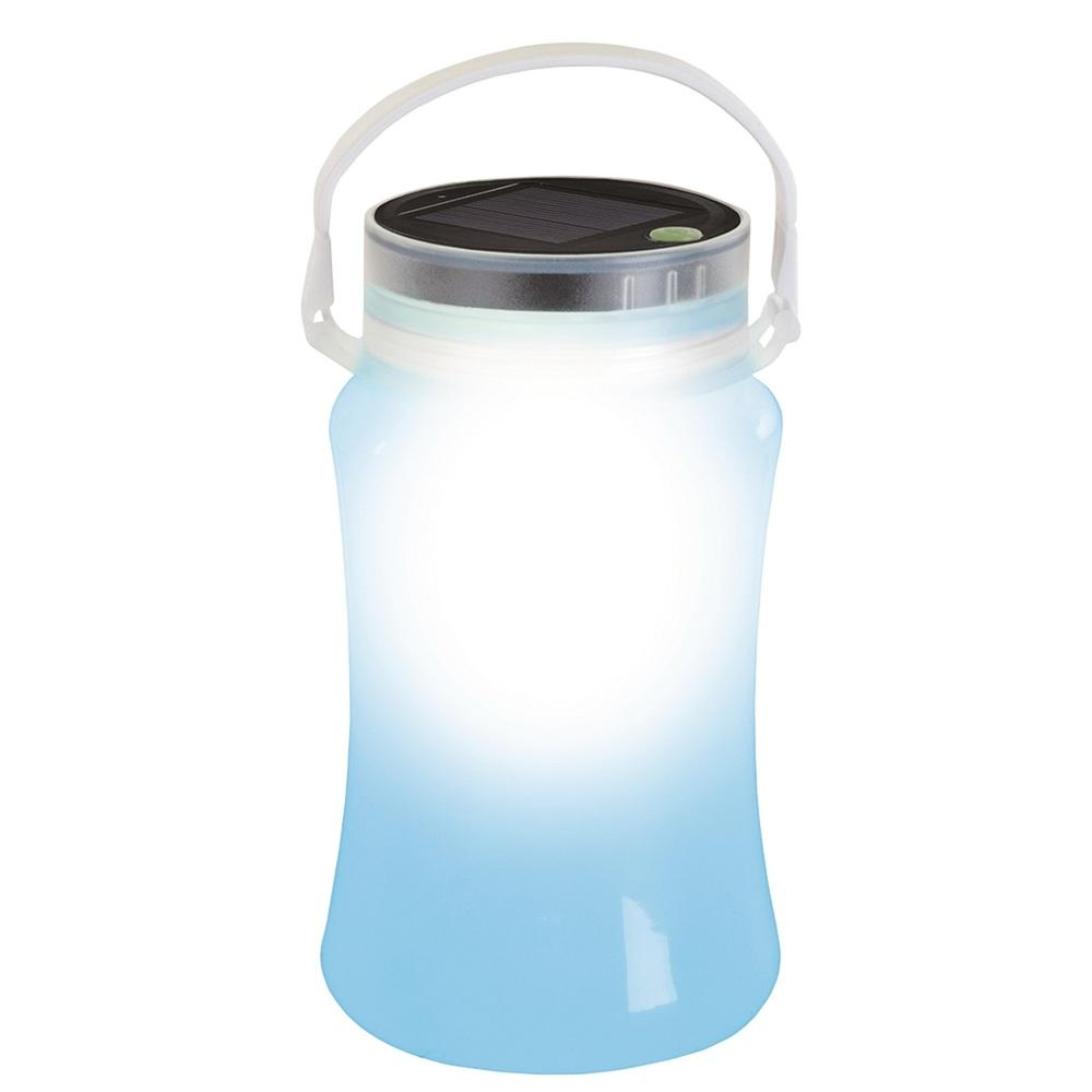 Stansport Solar LED Lantern Storage Bottle-Blue