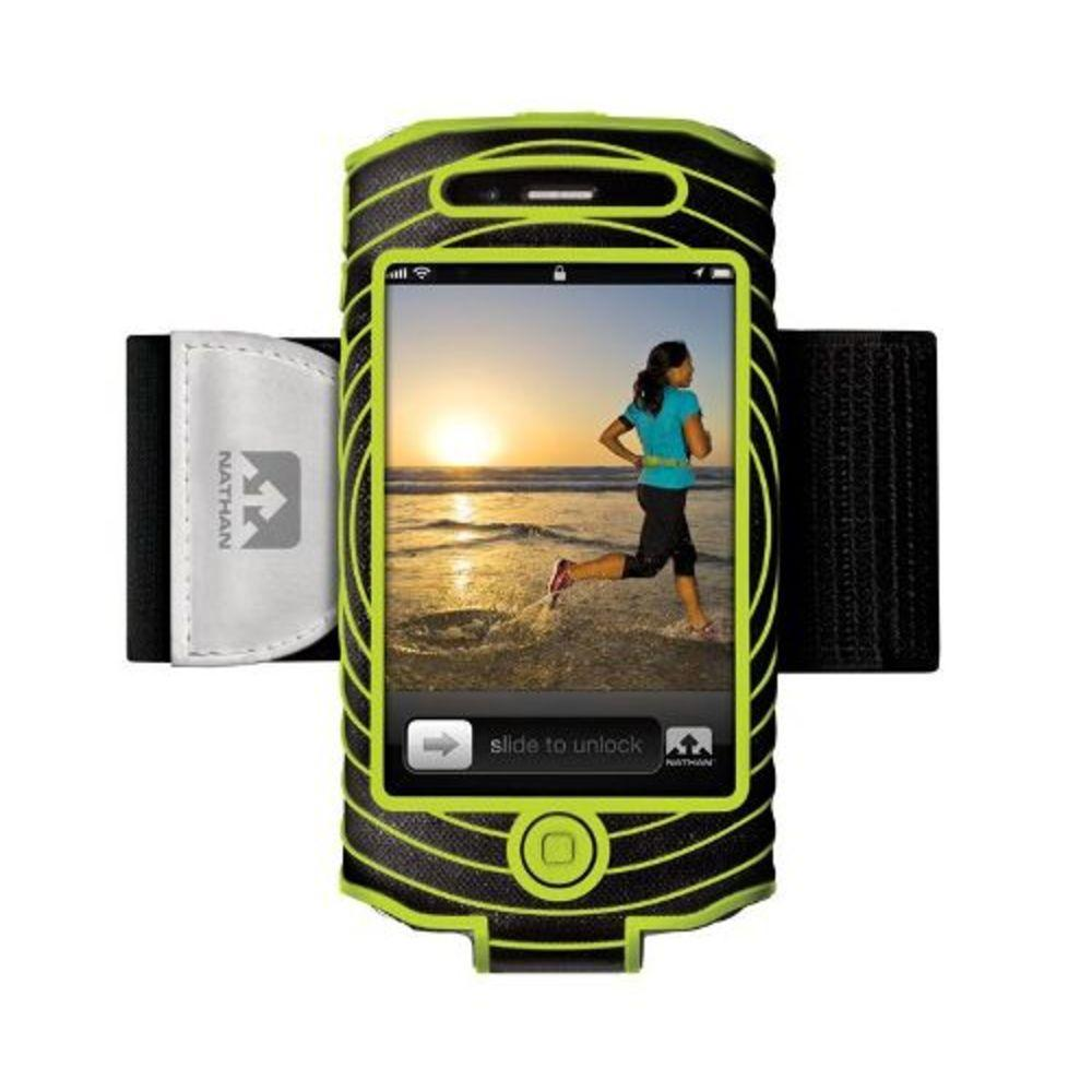 Nathan Sonic Boom Armband For iPhone 4-4s Blk-Grn 4887NBE