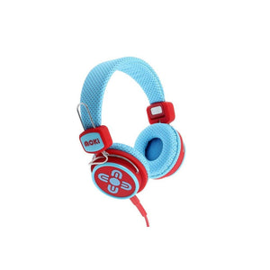 Moki Kid Safe Volume Limited Headphones Blue Red Acchpksbr