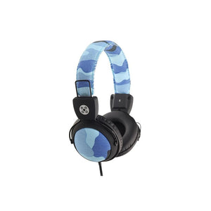 Moki Camo Headphones With In-Line MIC and Control Blue Acchpcamb