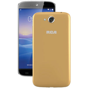RCA(R) RLTP5567-CHAMPAGNE 5.5 Android(TM) Quad-Core Smartphone (Beige-Champagne)