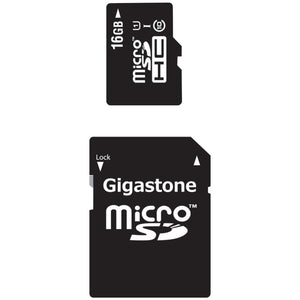 Gigastone(R) GS-2IN1C1016G-R Class 10 UHS-1 microSDHC(TM) Card & SD Adapter(16GB)