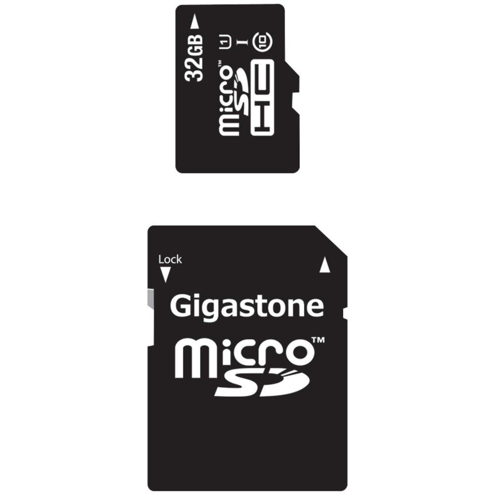 Gigastone(R) GS-2IN1C1032G-R Class 10 UHS-1 microSDHC(TM) Card & SD Adapter (32GB)