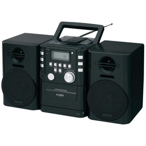 JENSEN(R) CD-725 Portable CD Music System with Cassette & FM Stereo Radio