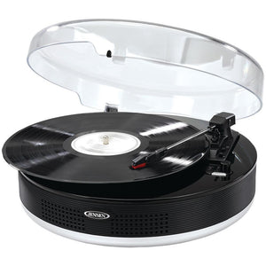 JENSEN(R) JTA-455 Bluetooth(R) 3-Speed Stereo Turntable with Metal Tone Arm