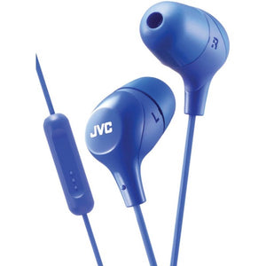 JVC(R) HAFX38MA Marshmallow(R) Inner-Ear Headphones with Microphone (Blue)