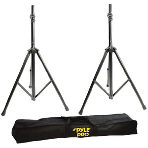 Pyle Pro(R) PSTK103 Heavy-Duty Aluminum Anodizing Dual Speaker Stand with Traveling Bag Kit