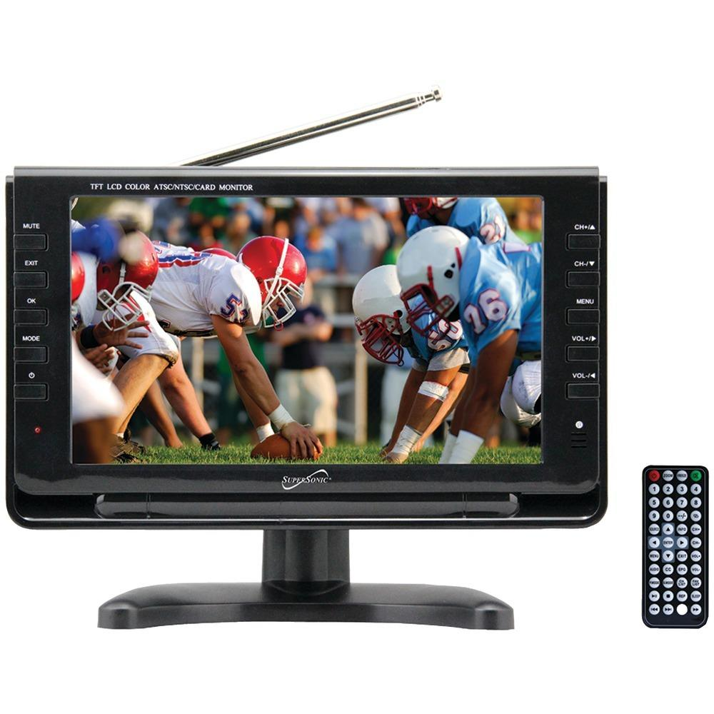 Supersonic(R) SC-499 9 TFT Portable Digital LCD TV, AC-DC Compatible with RV-Boat