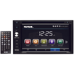 Sound Storm Laboratories(R) SSLDD661B 6.2 Double-DIN In-Dash Touchscreen Multimedia Receiver with Bluetooth(R)