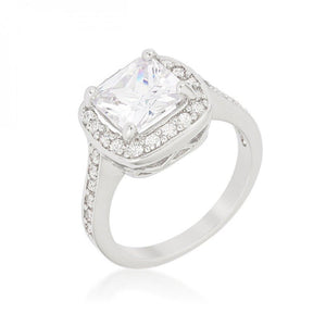 Halo Style Cushion Cut Engagement Ring (size: 08) R08387R-C01-08