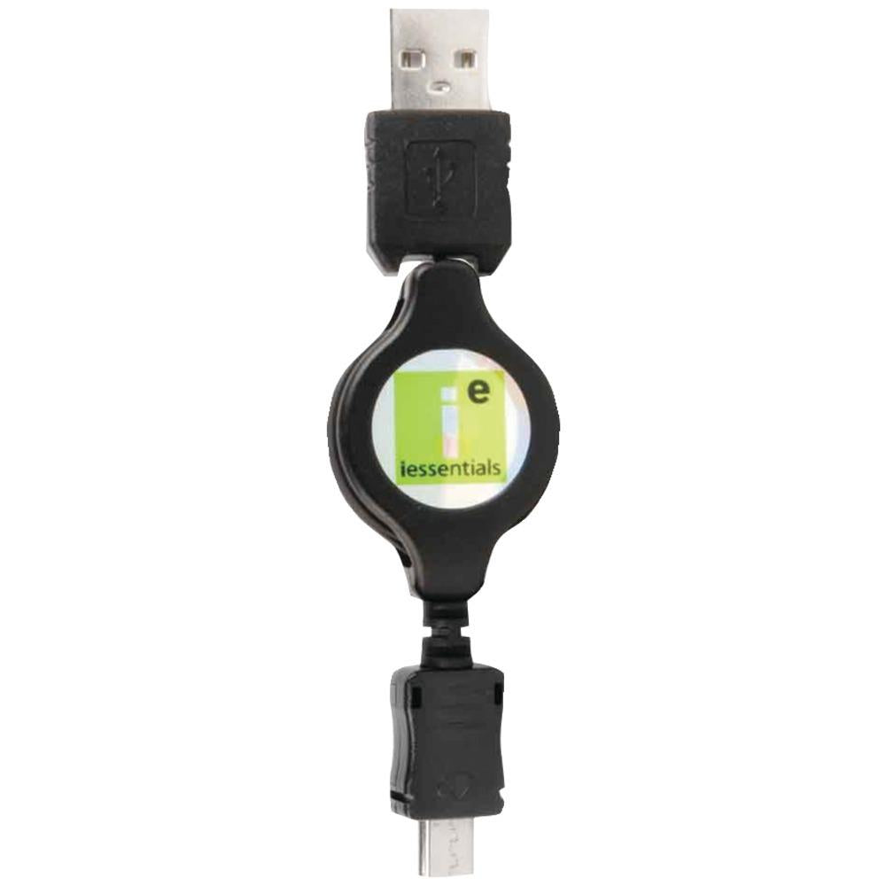 Iessentials Micro Usb To Usb Retractable Data Cable IESMICROUSBR