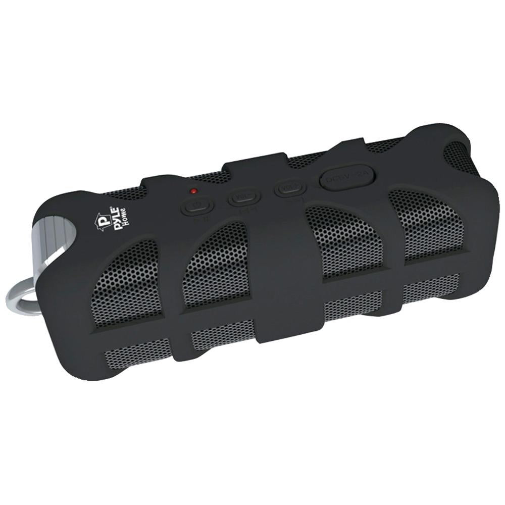 Pyle Home Soundbox Splash Rugged Bluetooth Speaker (black; With Aux Input) PYLPWPBTA70BK