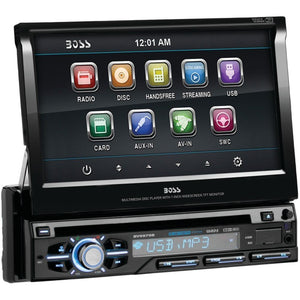 "Boss Audio 7"" Single-din In-dash Flip-up Dvd And Mp3 And Cd & Am And Fm Receiver With Bluetooth BOSBV9979B"