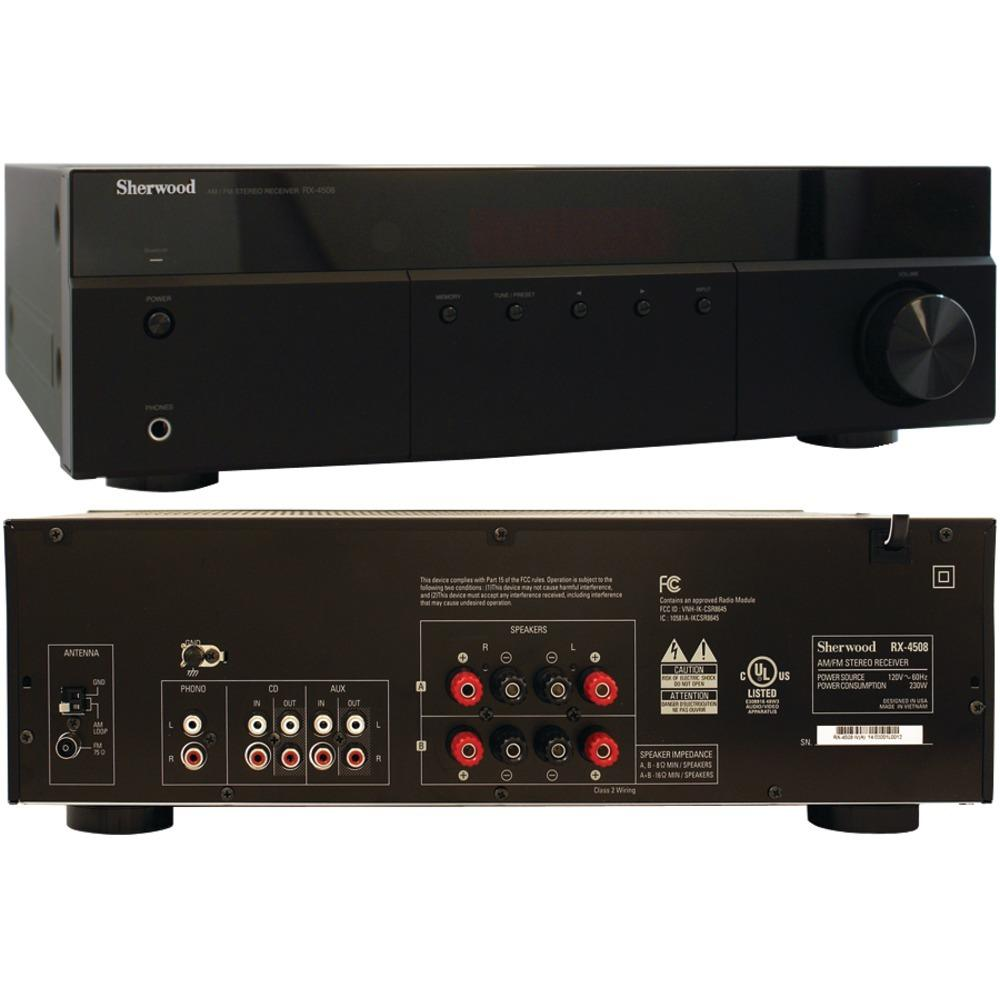 Sherwood 200-watt Am And Fm Stereo Receiver With Bluetooth SHDRX4508