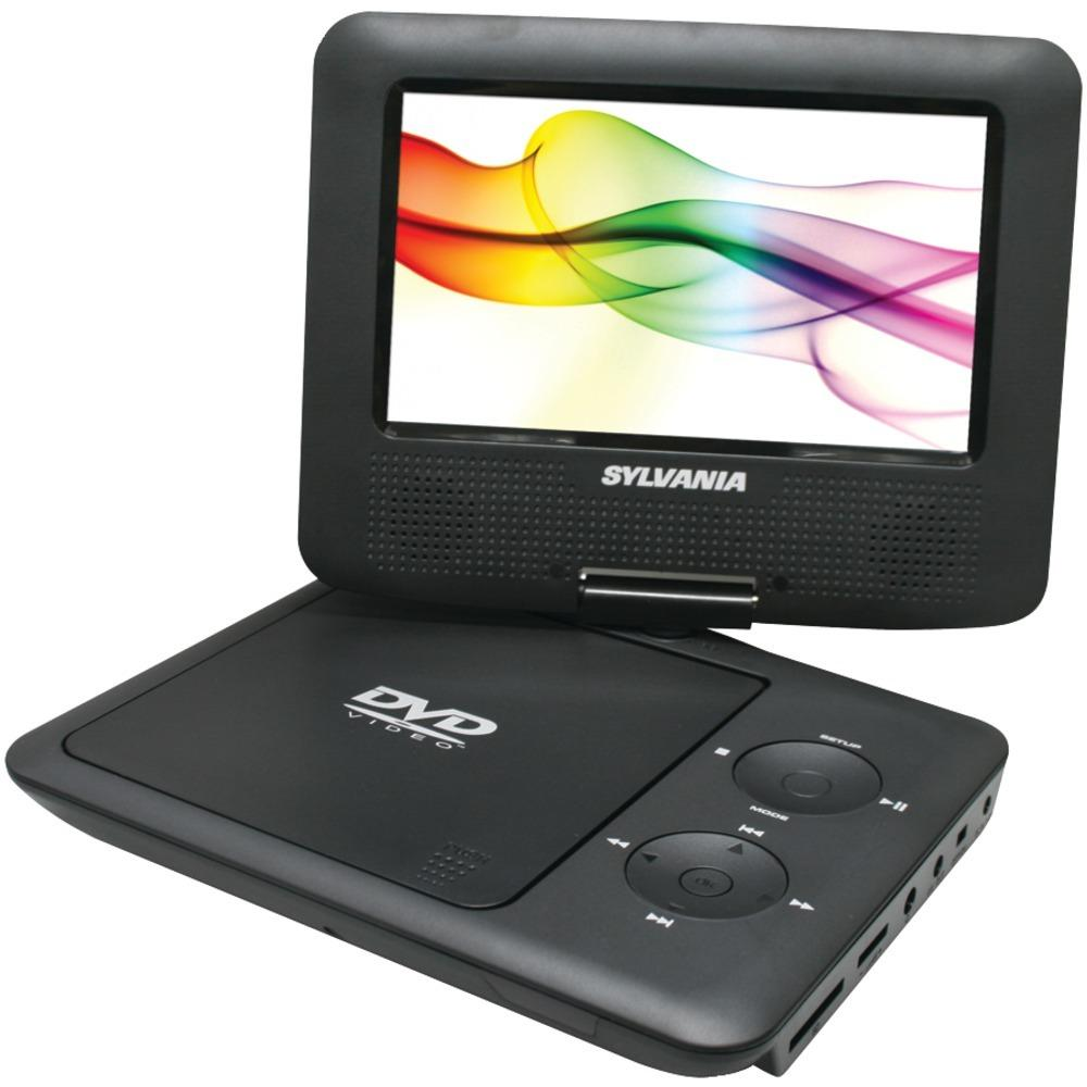 "Sylvania 7"" Swivel-screen Portable Dvd Players (black) CURSDVD7027BK"