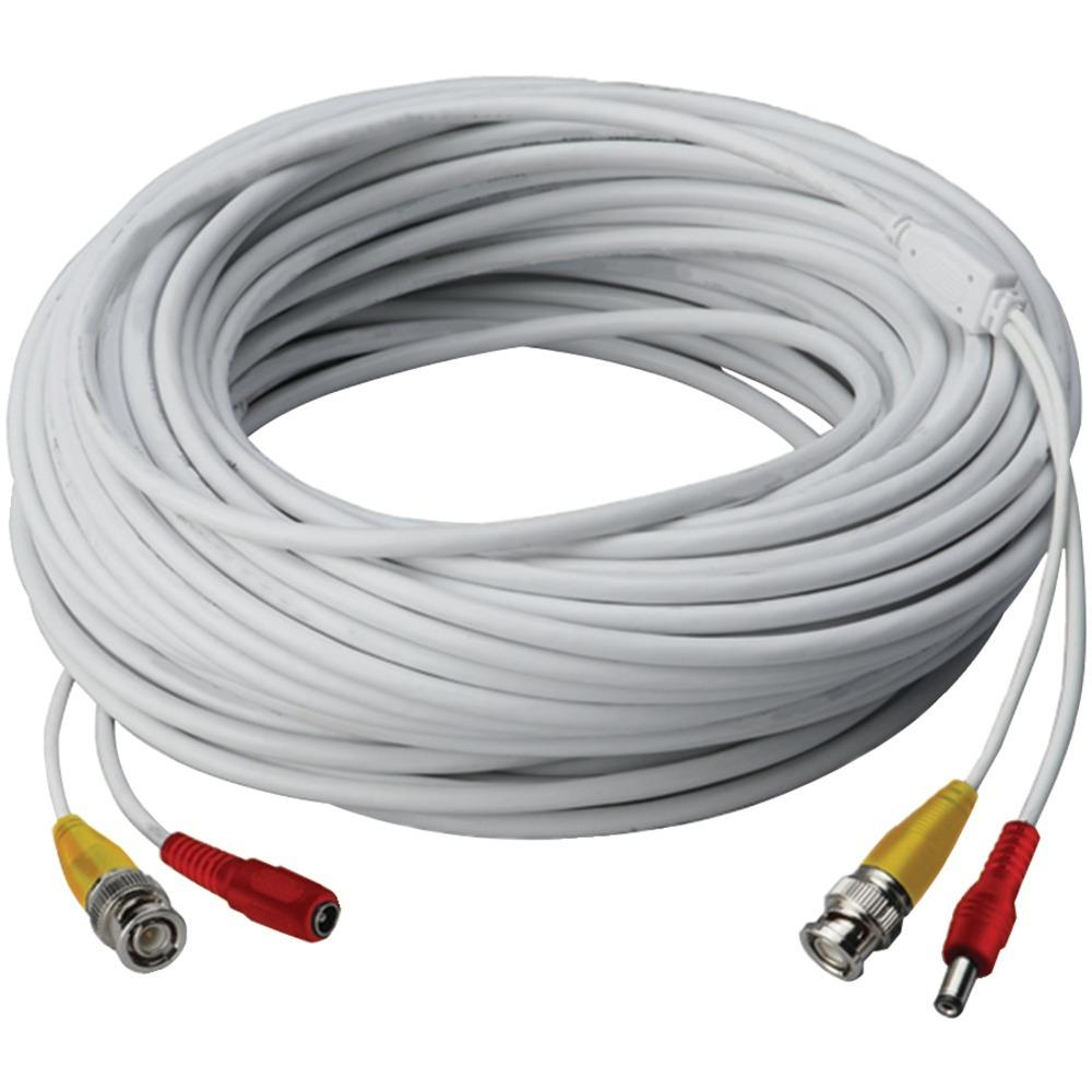 Lorex Video Rg59 Coaxial Bnc And Power Cable (60ft) LORCB60URB