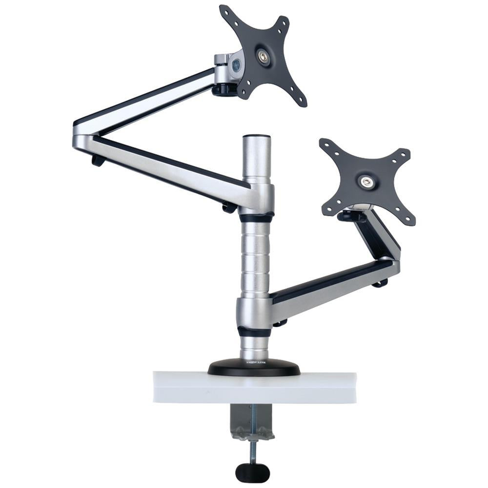 "Tripp Lite 13""-27"" Dual Full-motion Flex-arm Desk Clamp TRPDDR1327DCS"