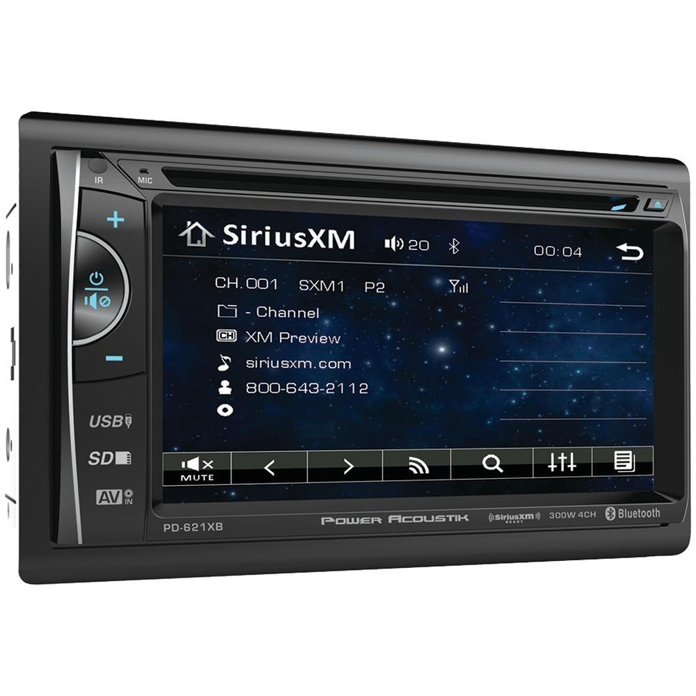 "Power Acoustik 6.2"" Incite Double-din In-dash Lcd Touchscreen Dvd Receiver With Bluetooth & Siriusxm Ready POWPD621XB"