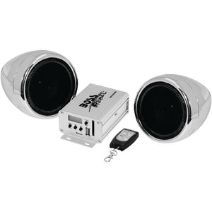 Boss Audio 600-watt Motorcycle And Atv Sound System With Fm Tuner & Bluetooth (silver) BOSMC520B