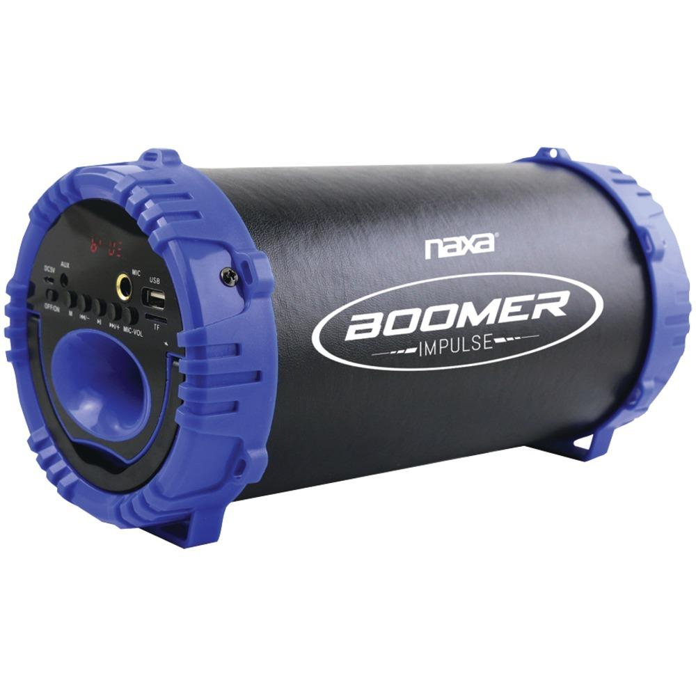 Naxa Boomer Impulse Led Bluetooth Boom Box (blue) NAXS3084BLUE