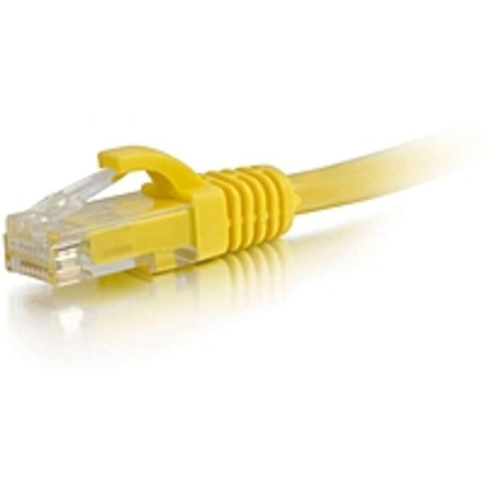 C2G-3ft Cat5e Snagless Unshielded (UTP) Network Patch Cable - Yellow - Category 5e for Network Device - RJ-45 Male - RJ-45 Male - 3ft - Yellow