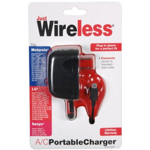 Just Wireless 4204 A-C Micro USB Portable Wall Charger