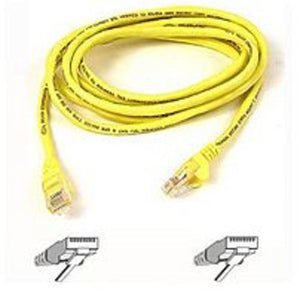 Belkin Cat5e Patch Cable - RJ-45 Male Network - RJ-45 Male Network - 6ft - Yellow