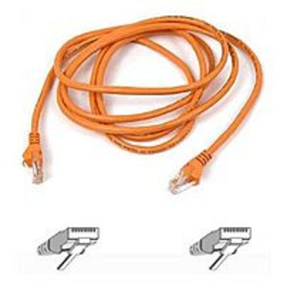 Belkin Cat5e Patch Cable - RJ-45 Male Network - RJ-45 Male Network - 7ft - Orange