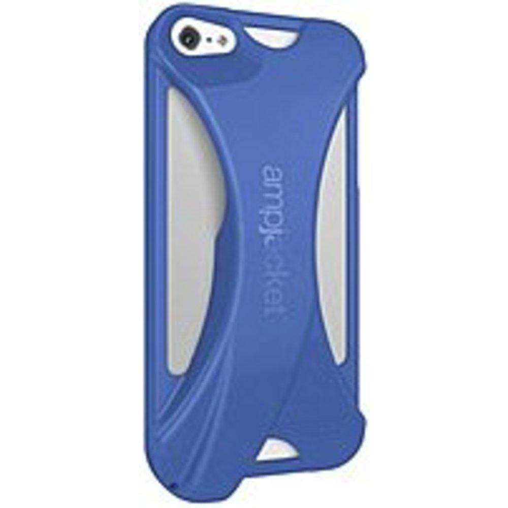 Kubxlab AmpJacket AMPIPH5BLPCR Acoustic Amplifier Case for Apple iPhone 5 - Blue