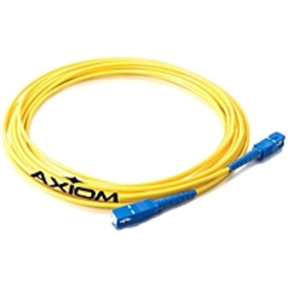 Axiom LC-SC Singlemode Simplex OS2 9-125 Fiber Optic Cable 5m - Fiber Optic for Network Device - 16.40 ft - 1 x LC Male Network - 1 x SC Male Network