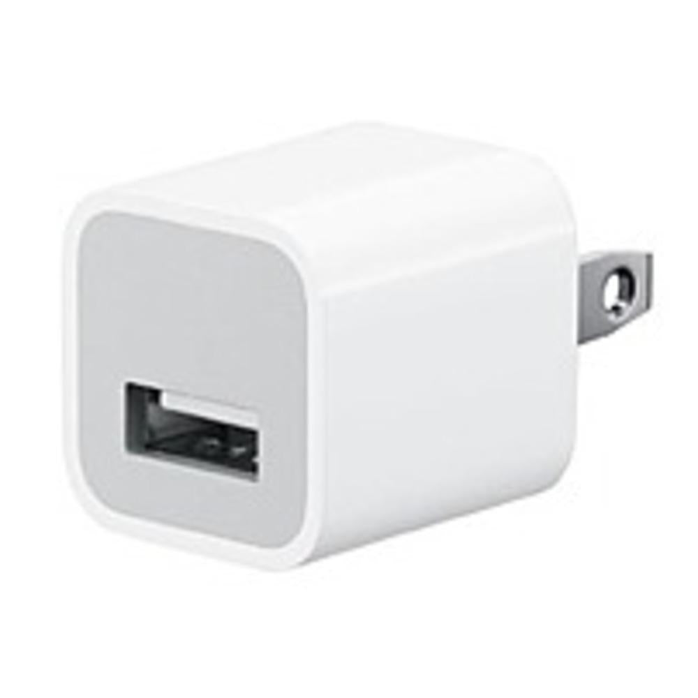 Apple MD810LL-A 5 Watts USB Power Adapter for All iPhone and iPods With Dock-Lightning Connector - White