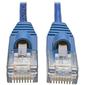 Tripp Lite 4ft Cat5e Cat5 Snagless Molded Slim UTP Patch Cable RJ45 M-M Blue 4 - Category 5e for Network Device, Switch, Router, Server, Modem, Printer - Patch Cable - 4 ft - 1 x RJ-45 Male Network