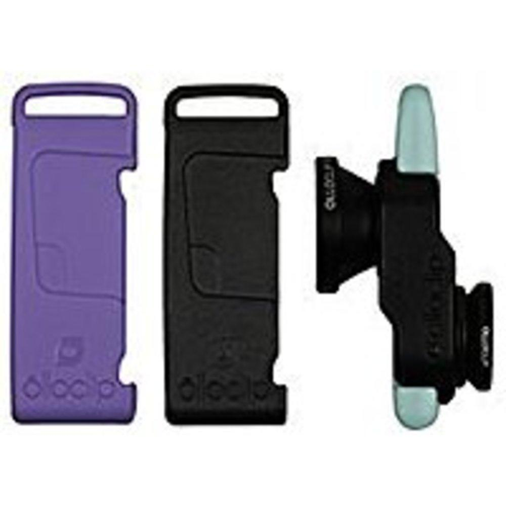 Olloclip Fisheye-Wide Angle-Macro Lens - 3-In-1 Photo Lens for iPhone 5-5S - Black-Lavender-Mint Green - OCEU-IPH5-L1BK-SBK-2