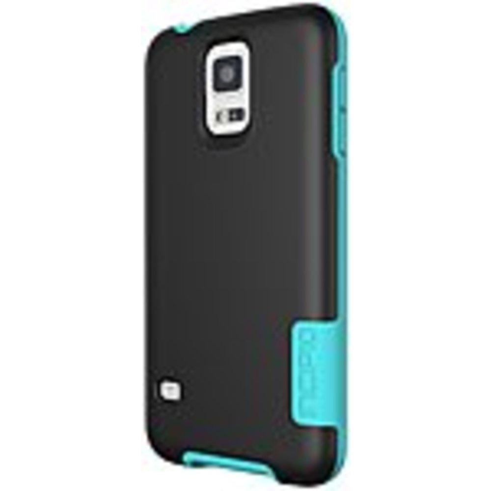 Incipio OVRMLD Case for Samsung Galaxy S5 - Black-Turquoise - SA-531-BLK - Flexible Hard-Shell - Plextonium, Next Generation Polymer