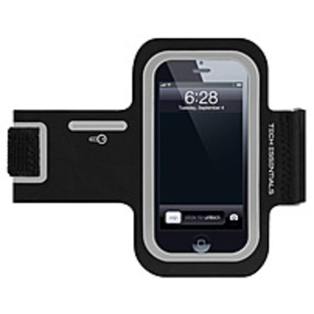 Merkury Innovations Tech Essentials TE-PH5A1-976 Motion Armband for iPhone 4-4S - Black, Silver