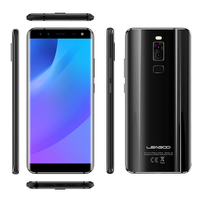4G LTE LEAGOO S8 5.72'' Smartphone 8MP+13MP Cameras Android 7.0 MTK6750T Octa Core 3GB RAM 32GB OTG GPS Dual SIM Mobile Phone