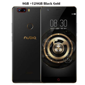 "Original ZTE Nubia Z17 Borderless Mobile Phone 6/8GB RAM 64/128GB ROM Snapdragon 835 Octa Core 5.5"" 23MP Android 7.1 Cell Phone"