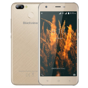 "Blackview A7 Pro 4G Mobile Phone 5.0"" HD Android 7.0 MTK6737 Quad Core 2GB RAM 16GB ROM 8MP Dual Cameras Fingerprint Smartphone"