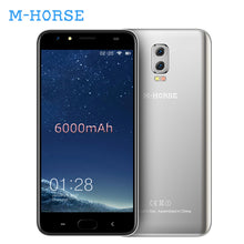 M-HORSE Power 2 6000mAh Smartphone Android 7.0 Quad Core 2GB+16GB 5.5 Inch Fingerprint 4G Unlocked Cell Phones BT 5.0 Telefone